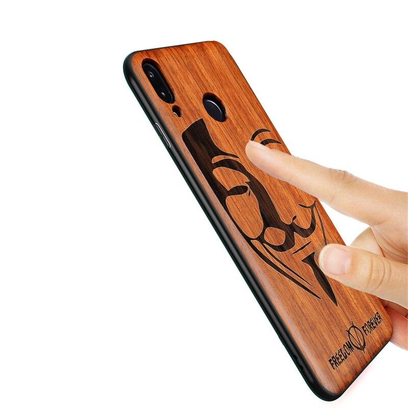 2019 nova huawei honor 8x caso de madeira fina capa traseira tpu caso pára-choques para huawei honor 8x telefone casos Honor-8x