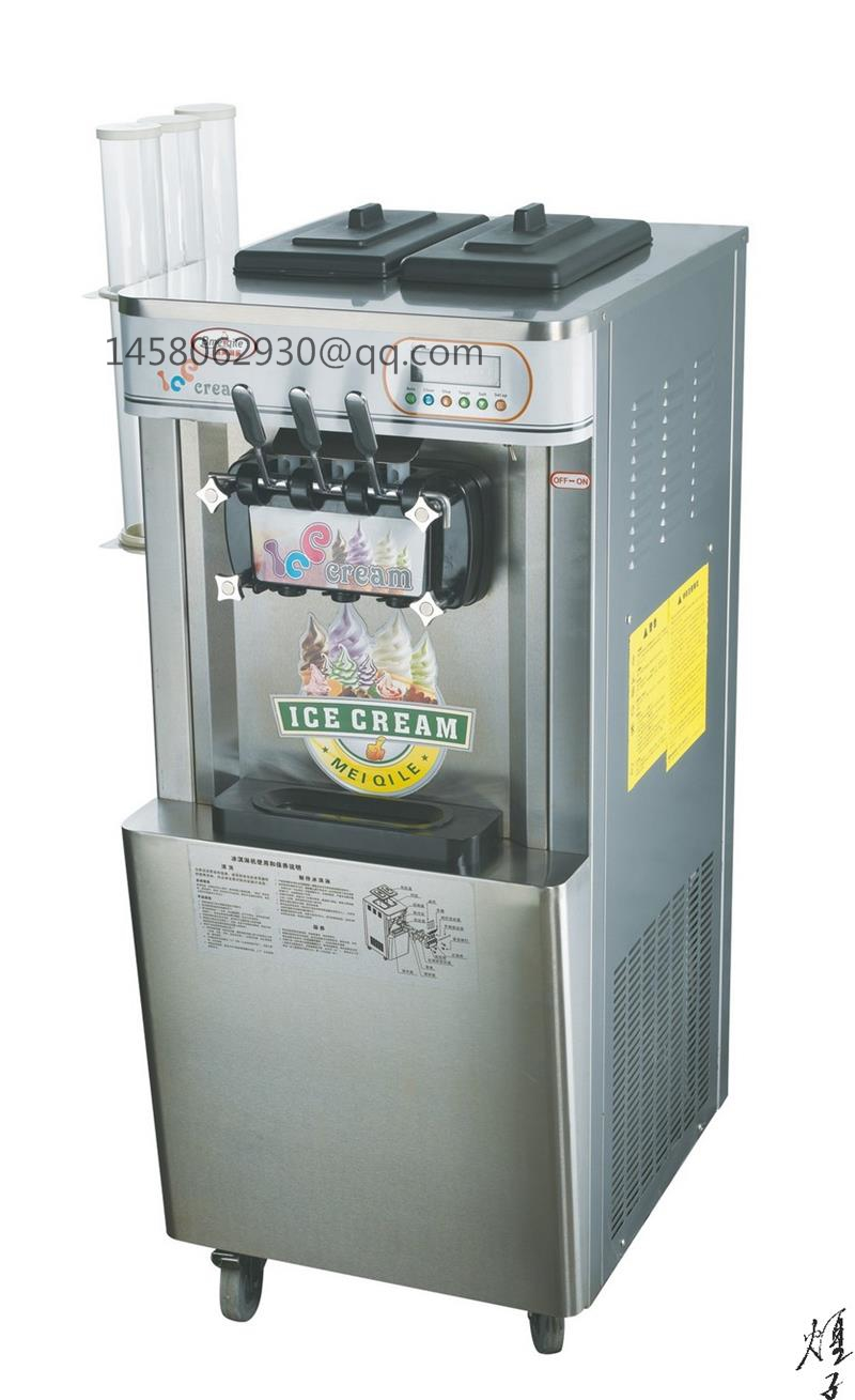commercial soft ice cream machine with three flavors Soft Ice Cream Machine,Ice Cream Machine,Commercial Ice Cream Machine cream cream live