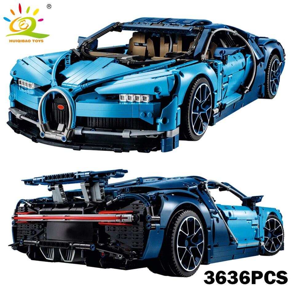 Auto da corsa Serie Technic Blu Bugattied Chiron Building Blocks Compatibile Legoed Technic Super Vyreoned Auto Giocattoli Per Gli Amici Bambini