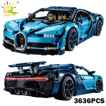 Гоночный автомобиль техника серии синий Bugattied Chiron строительные блоки Совместимые Legoed Technic супер вывернутый автомобиль игрушки для друзей детей