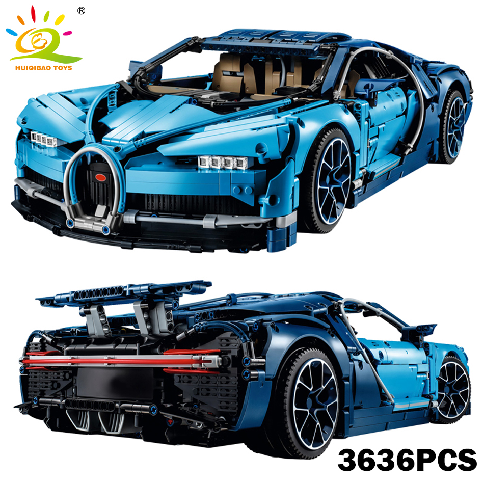 Voiture de course Technique Série Bleu Bugattié Chiron blocs de construction Compatible Legoed Technique Super Vyreoned jouet voiture Pour Amis Enfants