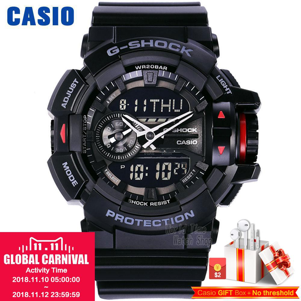 Casio watch G-SHOCK Men's Quartz Sports Watch Smart Music Bluetooth Dual Display g shock Watch GA-400 casio g shock g classic ga 100mm 3a