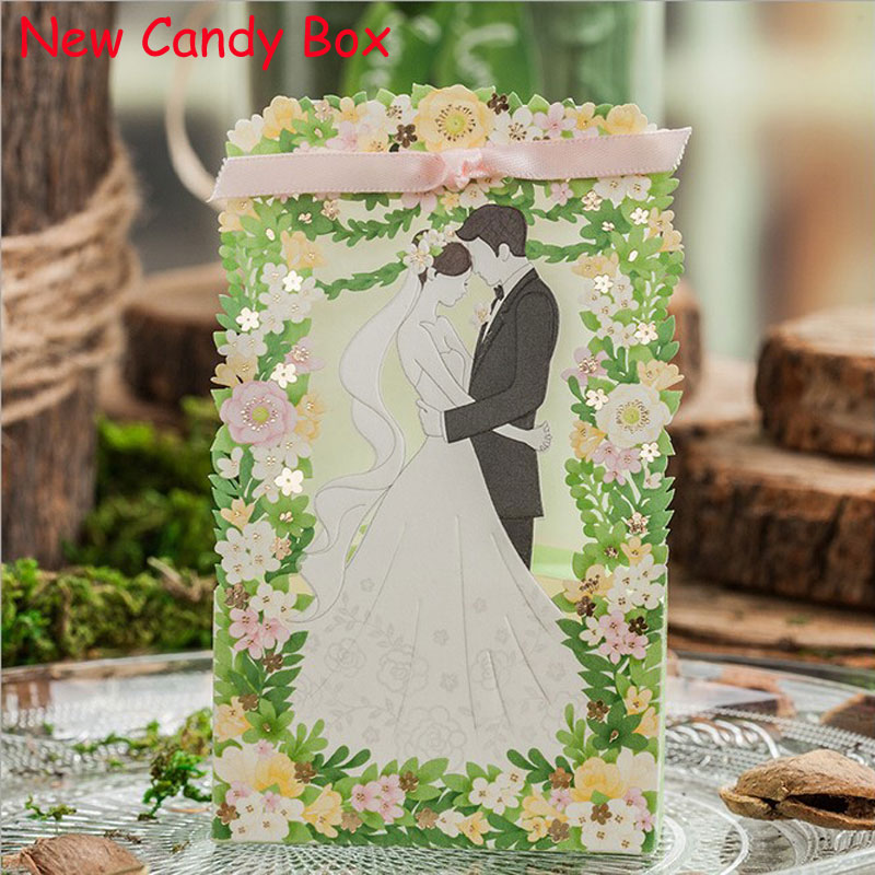 Wedding Gift Bag For Bride And Groom : Cut Wedding Candy Box Bride And Groom Candy Bag Wedding Favor Box Gift ...