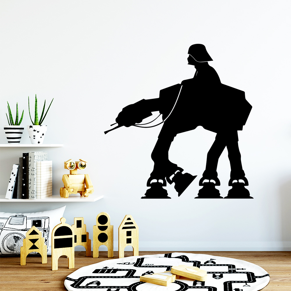 Drop Shipping Star Wars Vinyl Wall Sticker Home Decor Stikers For Kids Room Living Room Home Decor Vinyl Art Decal in Wall Stickers from Home Garden