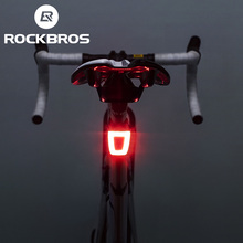 ROCKBROS Bicycle Rear Light Waterproof Bike Cycling Helmet Taillight LampUSB Rechargable Warning Safety Night Riding LED