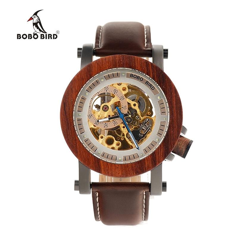 BOBO BIRD Relojes mecánicos de los hombres de la marca de lujo - Relojes para hombres - foto 2