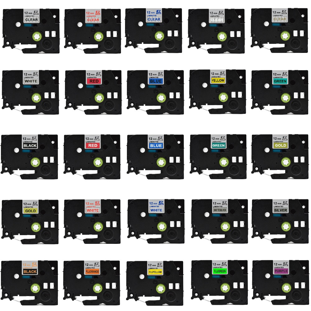CIDY Multicolor Compatible laminated tze 231 tze231 12mm Black on white Tape tze-231 tz-231 for brother p-touch printer tze-131 231 35131