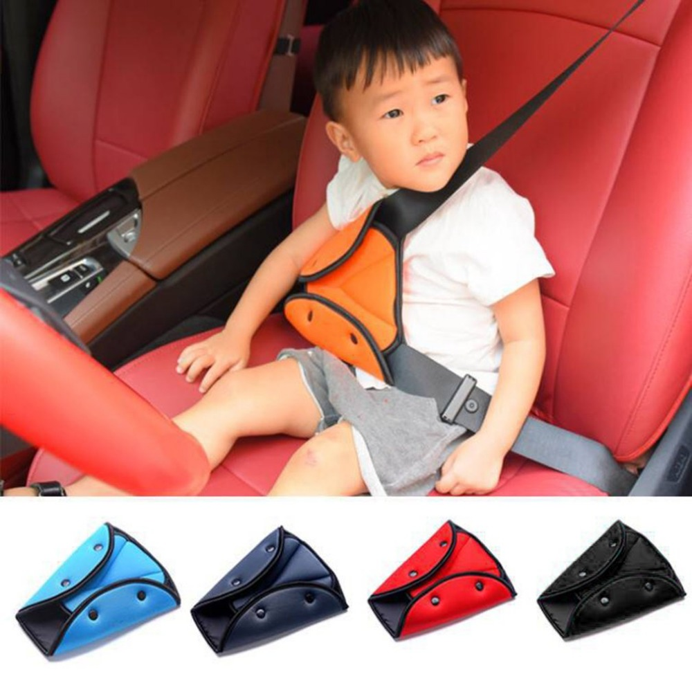 Car Seat Belt Triangle Safety Clip Buckle Universal Car Safety Belt Holder Child Kids Car Seat Cover Protect Baby Adjuster