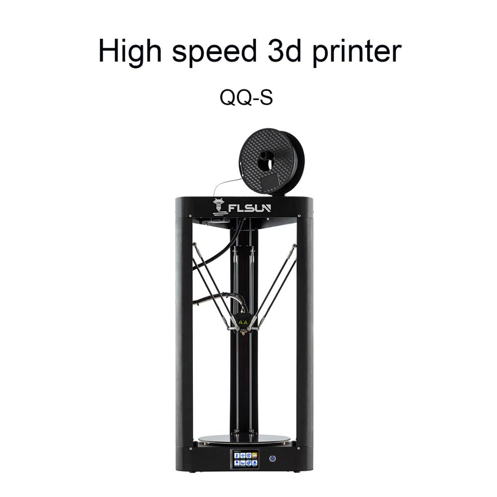 2019 FLSUN QQ S 3d printer Large Printing Size 260x370mm Delta Kossel Auto leveling 3D Printer Touch Screen with Wifi-in 3D Printers from Computer & Office    1