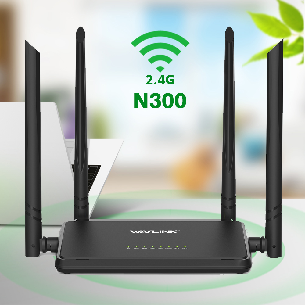 Wavlink 2.4G 300Mbps Wireless Wifi Router Repeater Access Point Smart APP Easy Setup With 4 External Antennas WPS Button IP QoS