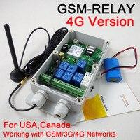 Бесплатная доставка 1шт 4G/3g/GSM семь релейных выходов большая мощность GSM Пульт дистанционного управления беспроводной блок управления