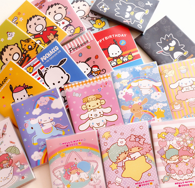 Cute Japanese Cartoon My Melody Twin Star Cinnamoroll Memo Pad Sticky Notes Notebook Stationery Paper Stickers School Supplies