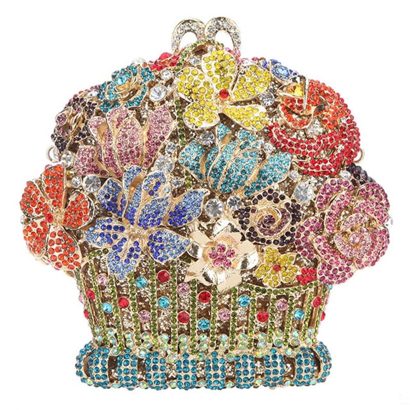 Femelle silver En Show Fête Bandoulière Soirée Cristal Mini gold Femmes pink De Fin Haute Sacs As Luxe Picture Sac D'or Embrayages Multicolore Rose À Portemonnaie HTFwZnqSI