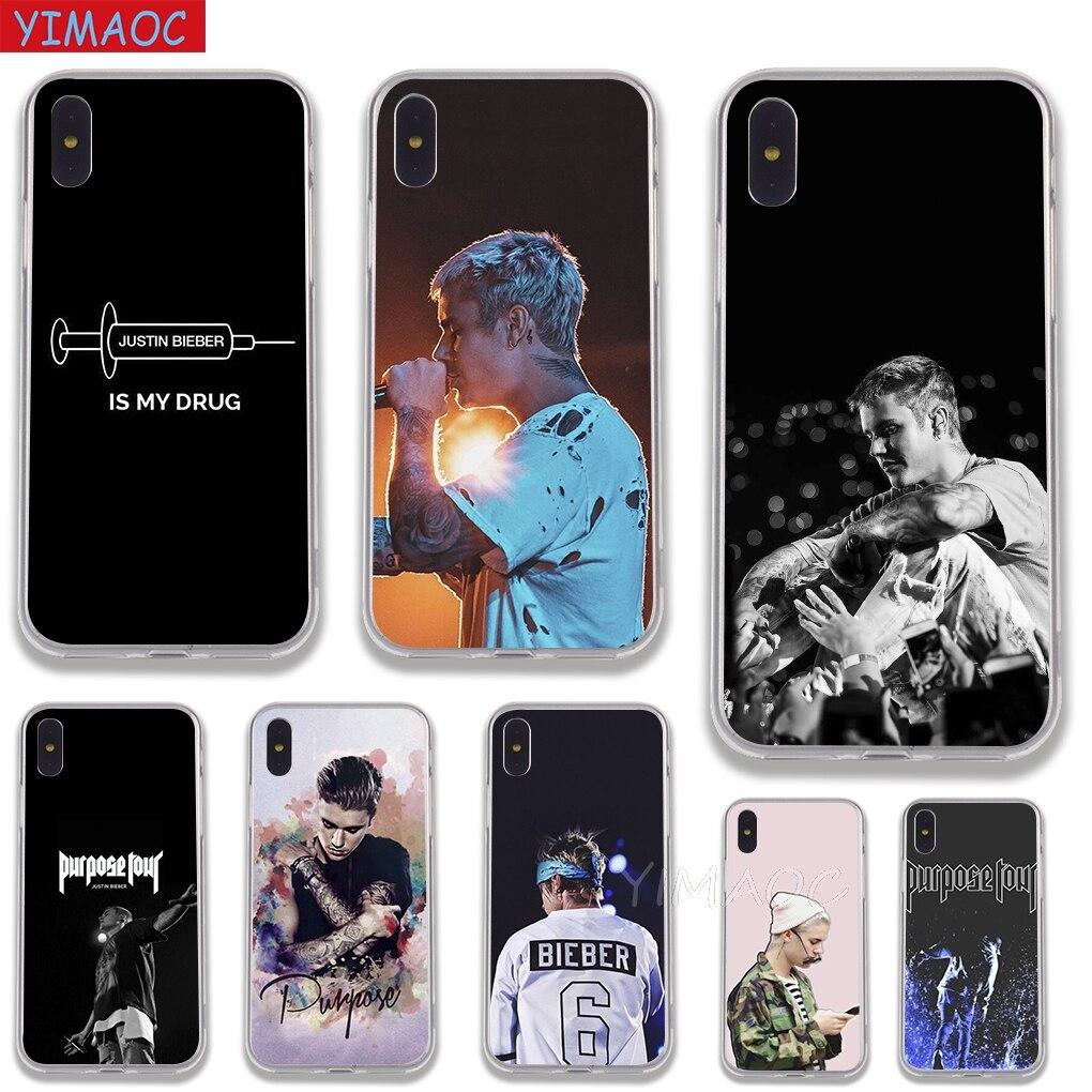 Constructive Yimaoc Justin Bieber Purpose Tour Soft Tpu Silicone Case Cover For Iphone 8 7 6 6s Plus 5 5s Se X Xs Max Xr Coque Shell Cases Fine Workmanship Cellphones & Telecommunications