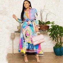 אפריקה בגדים אפריקאי חליפת לנשים סטי חדש אפריקאי הדפסת אלסטי Bazin בבאגי חצאיות רוק סגנון דאשיקי שרוול חליפה ליידי