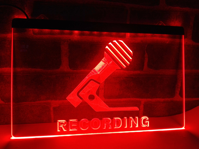 lb799 recording microphone on air new led neon light sign home decor