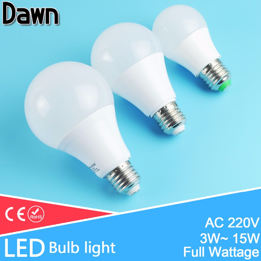 High Bright Aluminum Cooling E27  LED Lamp LED Bulb Light 3W 5W 7W 9W 12W 15W 220V Real Watt SMD Lampara Bombilla Ampoule LED led bulb 230v 220v 110v e27 e26 smd 2835 3w 5w 8w 10w 12w 15w led light led lamp led lampada aluminum cooling high brigh ball