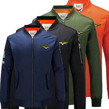 Spring/autumn man garments Aeronautica flight Jacket Men's MA1 Air Force One Coats causal Embroidery enterprise bomber polo Jackets