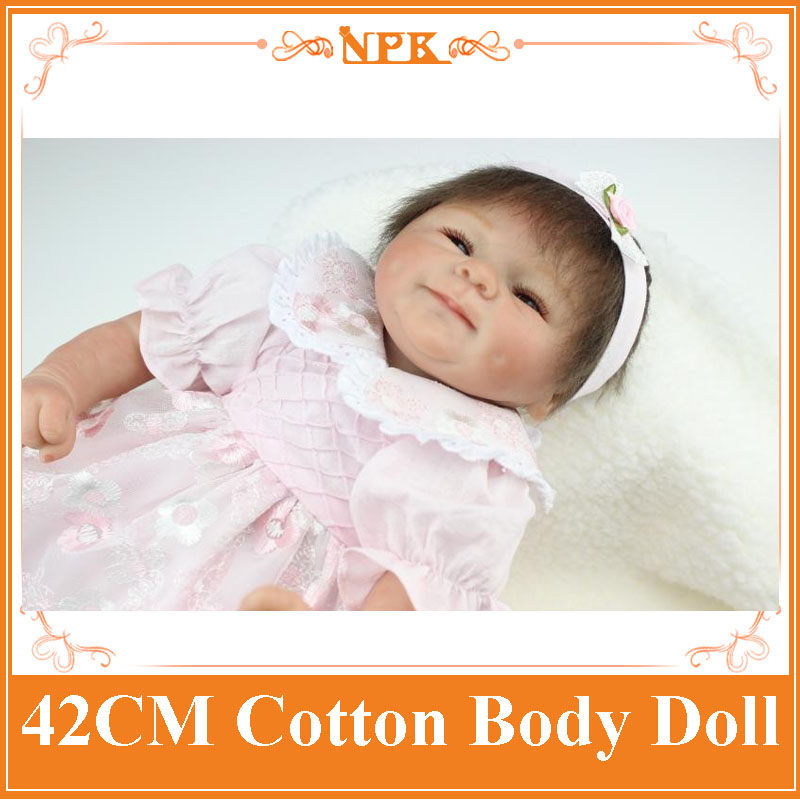 Brown&Blue Eyes 42cm Dolls NPK Silicone Reborn Baby Dolls In  Pink Dress Handmade Real Touch Vinyl Mini Reborn Dolls Girl Gift corporate real estate management in tanzania