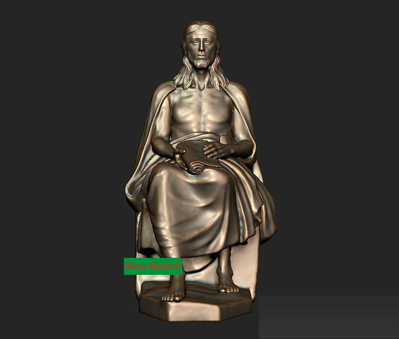 3D model stl format for cnc machine Jesus sitting 3d model relief for cnc in stl file format animals and birds 2