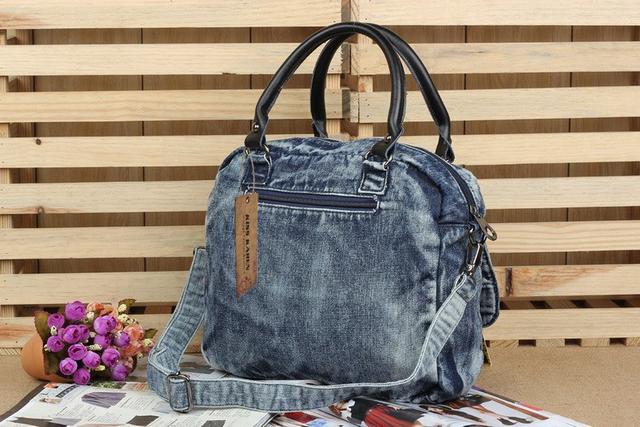 KISS KAREN Rivets Design Vintage Fashion Denim Women Bag Lady Handbags Women's Shoulder Bags Jeans Women Messenger Bags Satchels