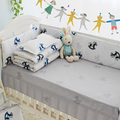 4-10PCS New Arrival Cotton Baby Cot Bedding Set Newborn Cartoon Crib Bedding Detachable Quilt Pillow Bumpers Sheet Cot Bed Linen