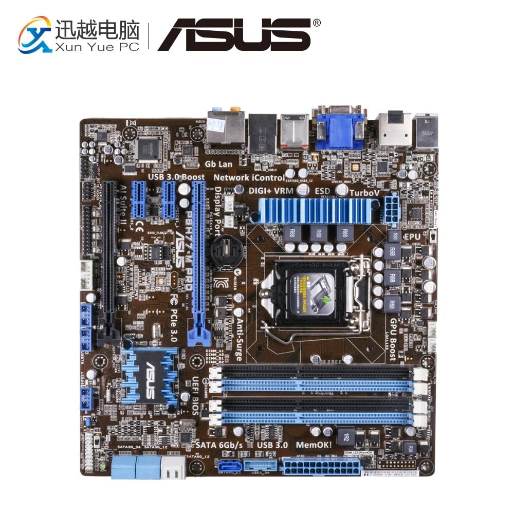 Asus P8H77-M PRO Desktop Motherboard H77 Socket LGA 1155 i3 i5 i7 DDR3 32G SATA3 USB3.0 uATX asus p8p67 m desktop motherboard p67 socket lga 1155 i3 i5 i7 ddr3 32g sata3 usb3 0 uatx