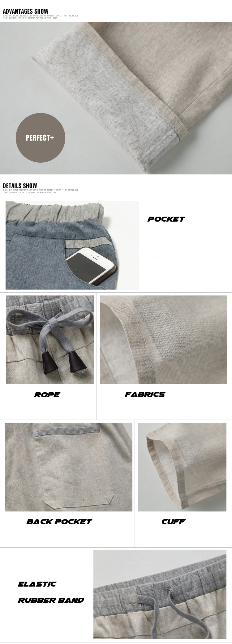 HTB1Dhw7ny0TMKJjSZFNq6y 1FXaJ Men Pants Linen Drawstring Flax Pants Straight Full Length solid Linen Cotton Home Men's Trousers Fashion Pants Linen Size M-3XL