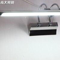 À prova d' água levou lâmpada de parede da forma breve espelho de aço inoxidável espelho de luz espelho do banheiro lâmpadas de gabinete de cosméticos|wall lamp|glass wall lamp|mirror cabinet -