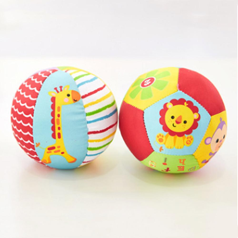 2017 Baby Toys Animal Ball Soft Stuffed Toy Balls Baby Rattles Infant Babies Body Building Ball For 0-12 Months B0738