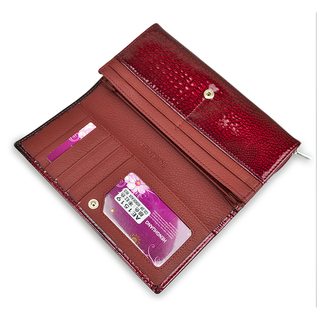 Genuine Leather Women's Wallet Alligator
