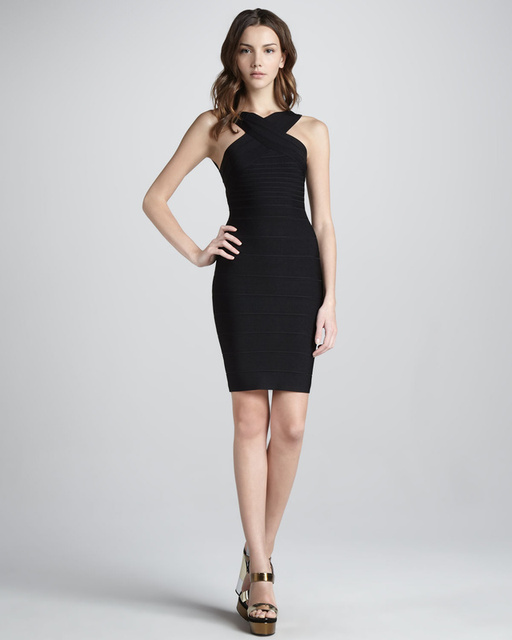 a096ab938aabe Low Back Black Women Bandage Dress Branded Cocktail Clothes Criss Cross  Chest Cheap Price Aliexpress Dress Taobao Agent HL C1096