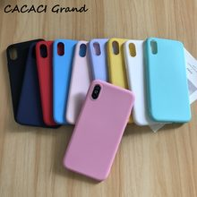 Phone Case For iPhone 6 6s 7 8 Plus X XR XS Max Candy Colorful Silicone Ultra Thin Soft TPU Funda Coque For iPhone 5 5S SE Cover(China)