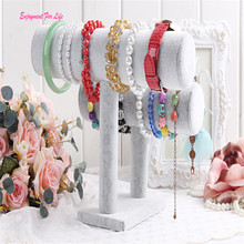 2 Tiers T-Bar Velvet Bangle Bracelet Wholesale High Quality Hot Watch Holder Jewelry Display Stand Free Shipping Dec 14