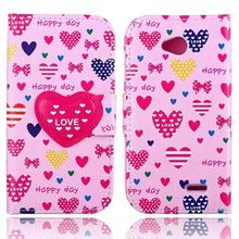 New Arrival Funny Cute Fashion Wallet Flip Style PU Leather Case For LG L70 D320 D325 Phone Bag Cover Card Holder