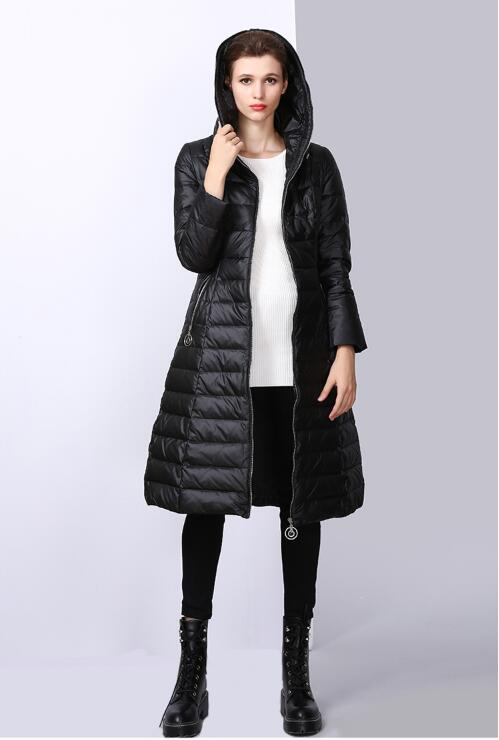75a4cfaec #1. Women Down Parka 2018 New Brand Winter Long Jacket Female Casual Thick  Hooded Parka Outwear Warm White Duck Down Coat FR1005-in Down Coats from  Women's ...