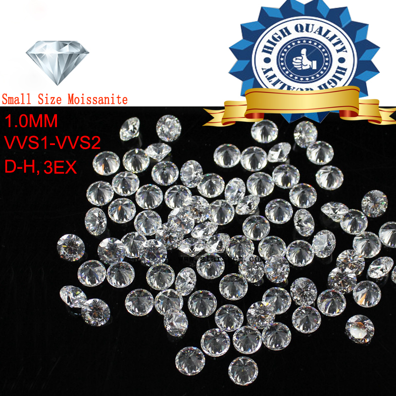Melee Size 5ctw 1.0mm 1200pcs/Package Round Cut Moissanite Loose Stone Lab Grown Diamond 240pcs/carat Stunning Super White