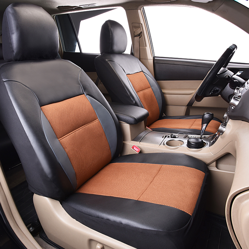high quality pvc leather car seat covers universal fit polyester composite sponge car styling. Black Bedroom Furniture Sets. Home Design Ideas