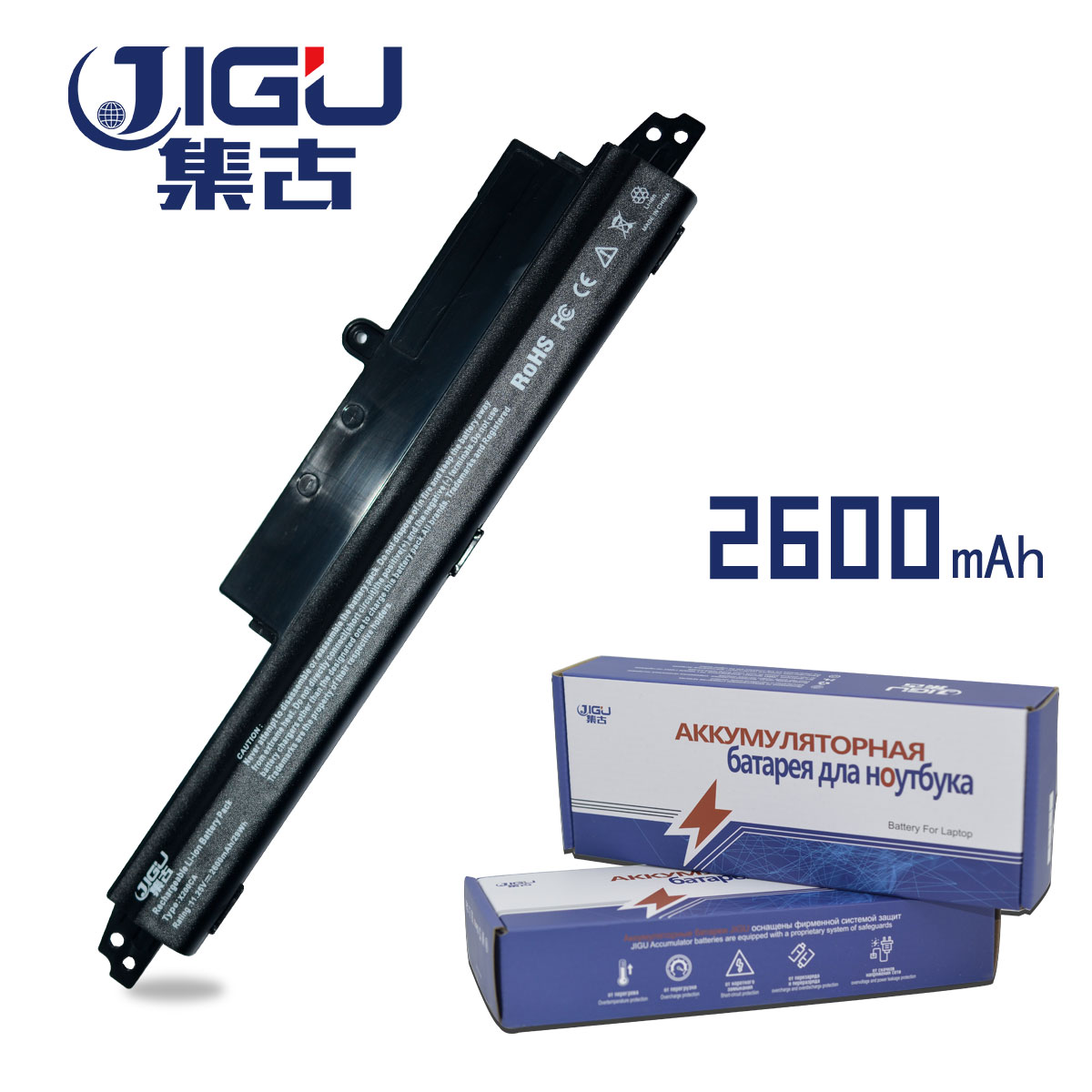 JIGU Laptop Battery A31LMH2 A31N1302 Battery For ASUS For VivoBook X200CA X200MA X200M X200LA F200CA 200CA 11.6