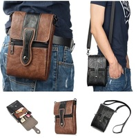 Universal PU Leather Phone Crossbody Bag Wallet Pouch Waist Belt Clip Case Neck Strap For Iphone 4 4s 5 5s 6 7 8 Plus X For Lg