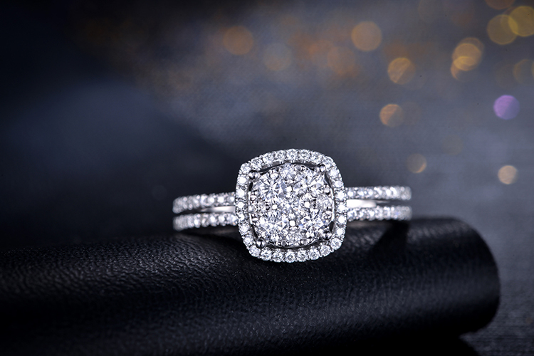 2015 New Arrival ZOCAI 065 CTTW real diamond engagement ring 18K