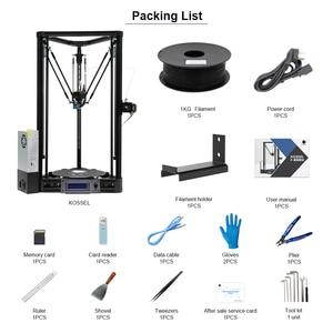 Image 2 - ANYCUBIC Kossel 3D принтер Impresora 3D авто уровневая платформа шкив линейная направляющая плюс Настольный Diy Набор высокого качества