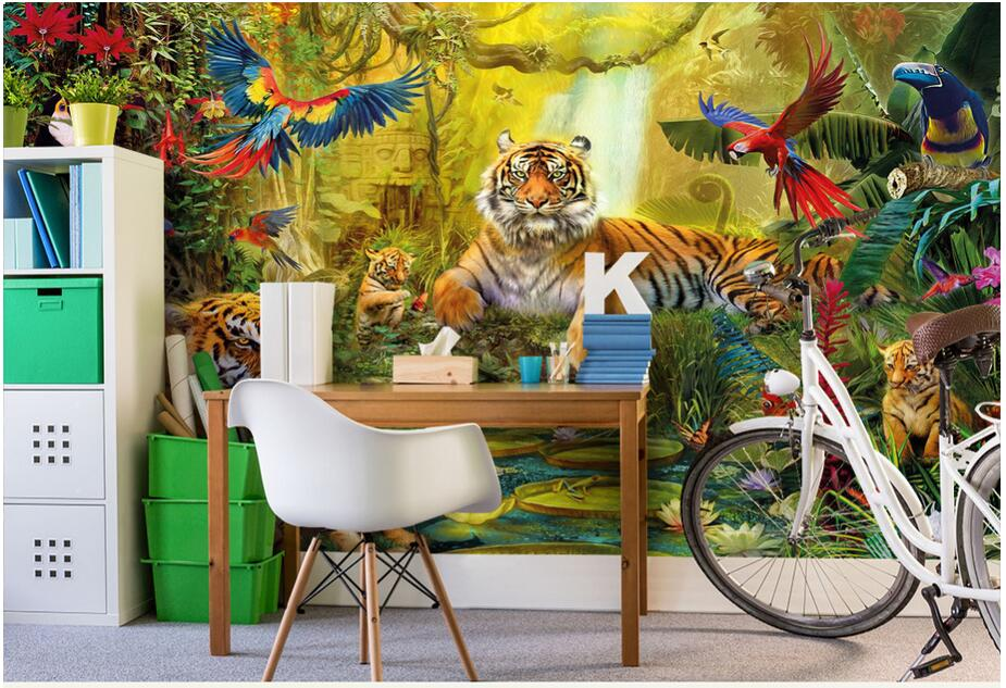 Compare prices on parrot wallpaper online shopping buy for Custom mural cost