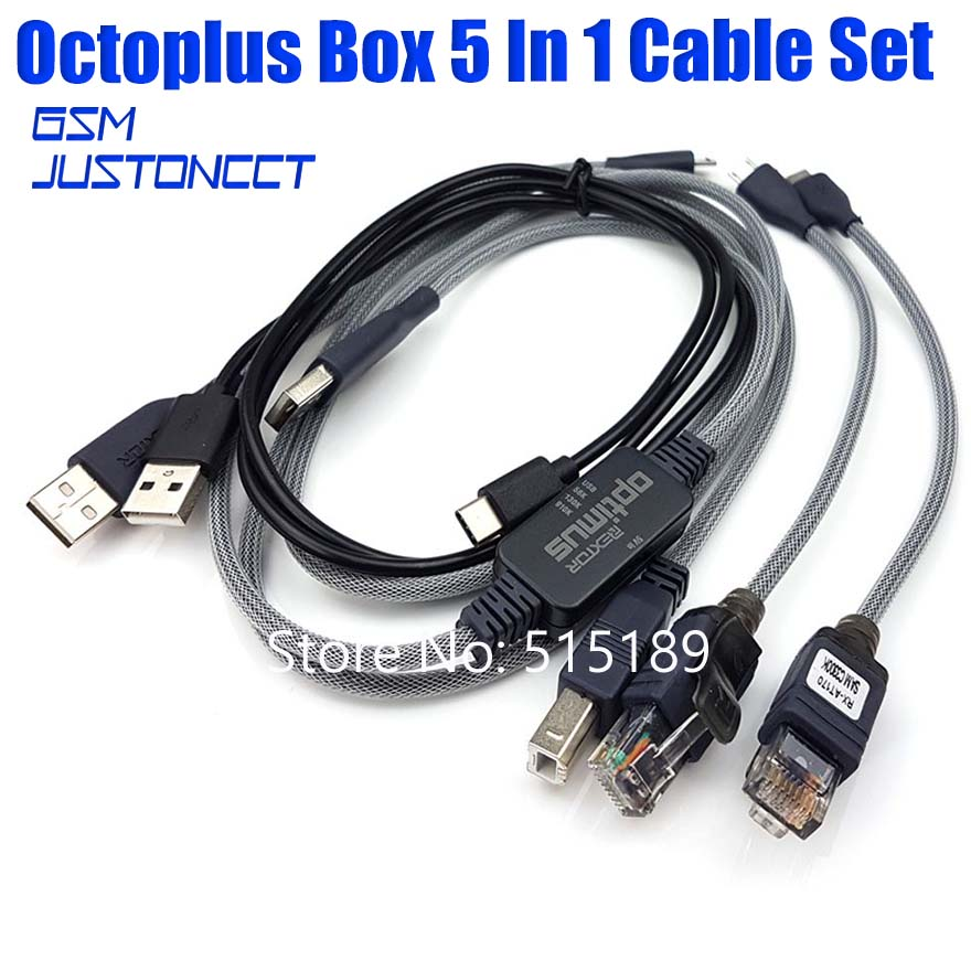 Octoplus Pro/octopus  Box 5 In 1 Cable Set(includinge Optimus Cable )