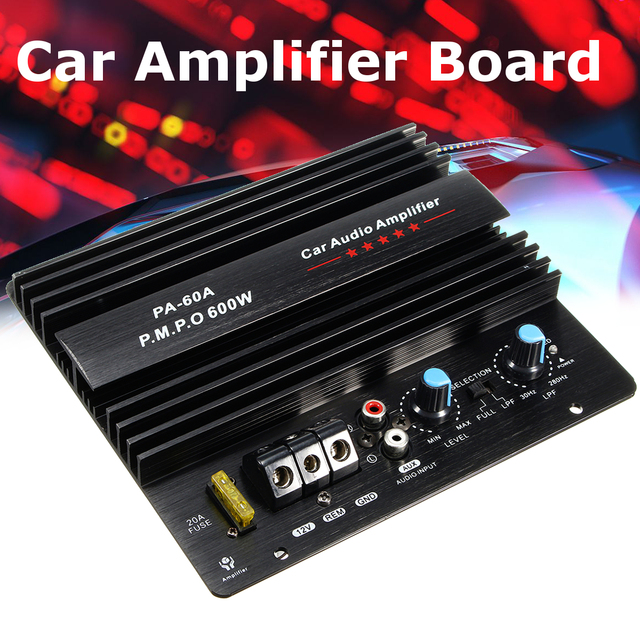 New 12v 600w Mono Car Audio Power Amplifier Powerful Bass Subwoofers