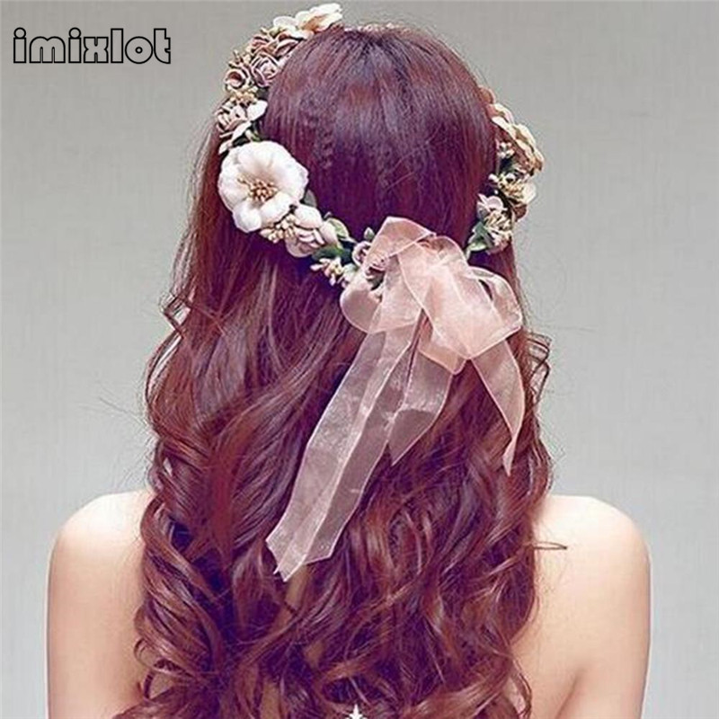 2017 Special Offer Plant Hairbands Copper Lace Women Boho Flower Floral Hairband Headband Crown Party Bride Wedding Beach New