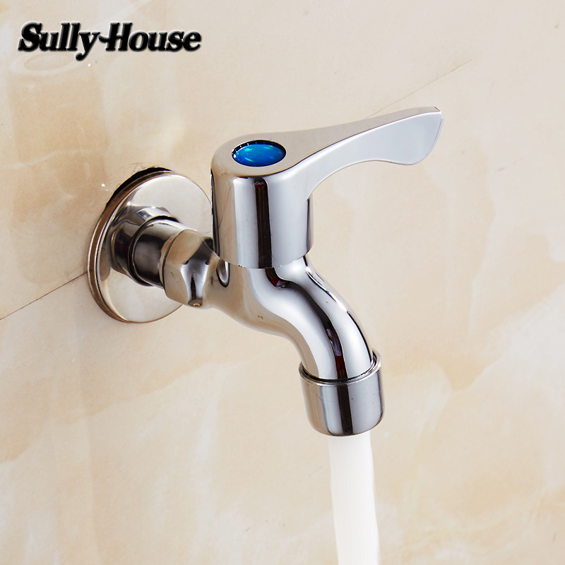 High-quality Brass Bathroom Tap Cold Tap Single Handle Washer Faucet Simple Tap Free Shippin Bathroom Sinks,faucets & Accessories