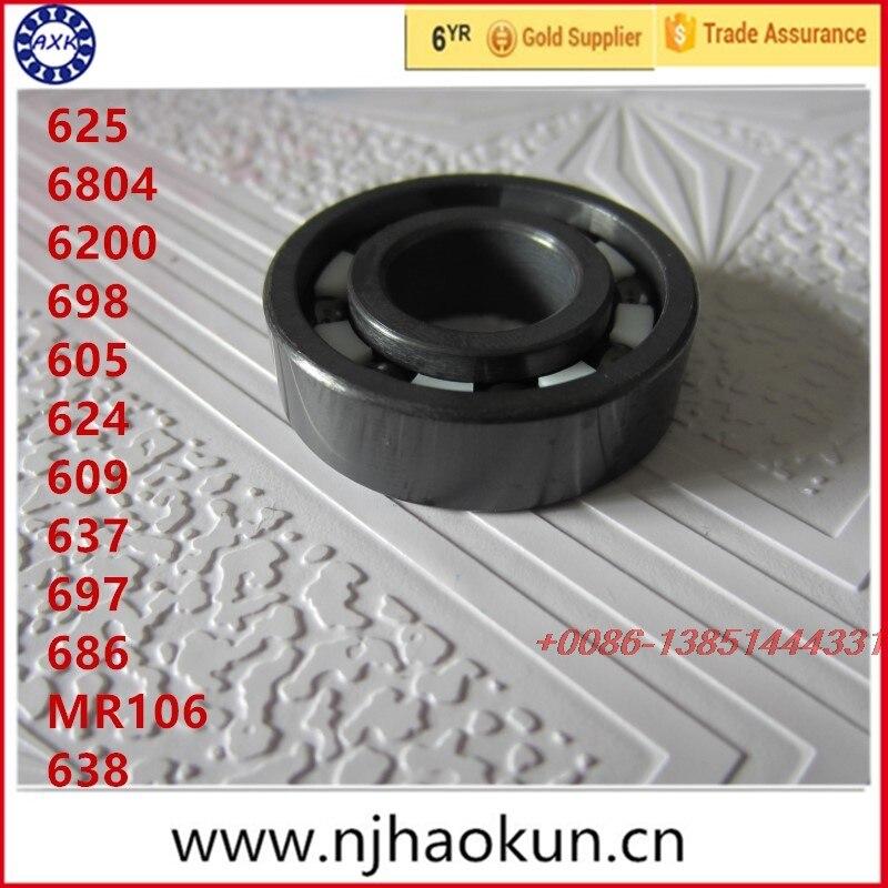 Free shipping 1pcs 625 6804 6200 698 605 624 609 637 697 686 MR106 638  full SI3N4 ceramic deep groove ball bearing free shipping 1pcs 685 6904 634 6006 639 6008 627 605 636 6906 625 624 687 full si3n4 ceramic bearing