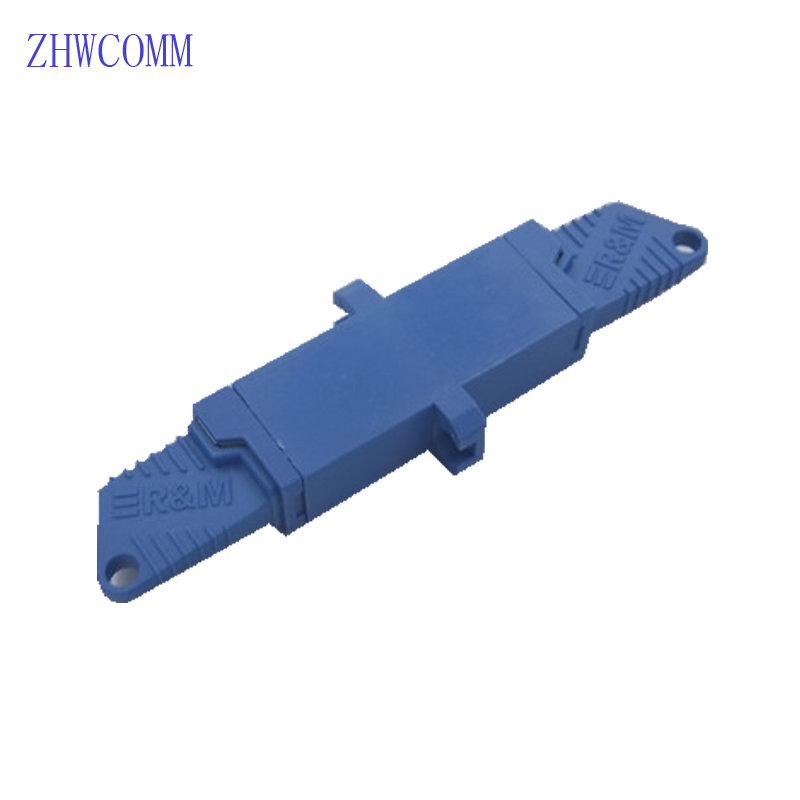ZHWCOMM 10PCS High quality E2000 fiber optic adapter UPC singlemode single fiber adapter flange coupling