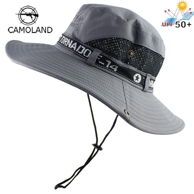 Mesh Bucket Fishing Hiking Cap